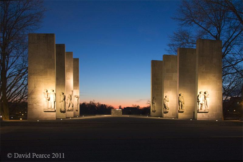 War Memorial Sunset